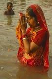 Festival de Chatt en la India. Imagen de archivo