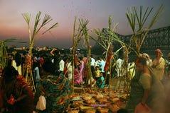 Festival de Chatt en la India Imágenes de archivo libres de regalías