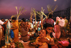 Festival de Chatt en la India Fotografía de archivo