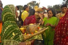 Festival de Chatt en la India Fotografía de archivo libre de regalías