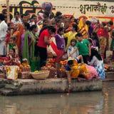 Festival de Chhath Foto de archivo libre de regalías