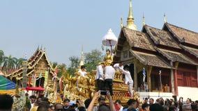 Festival de Chiang Mai Songkran almacen de metraje de vídeo