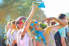 Festival de colores Imágenes de archivo libres de regalías