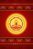 Festival de colores - lámpara de tierra, Diwali Ilustración del Vector