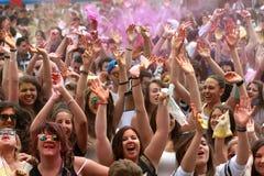 Festival de couleurs Holi Images stock