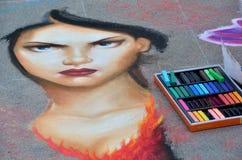 Festival de craie de Pasadena images libres de droits