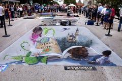 Festival de craie de rue Photographie stock