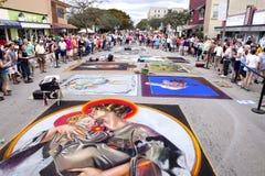Festival de craie de rue Photographie stock libre de droits