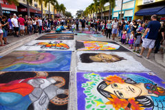Festival de craie de rue photos libres de droits