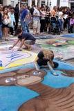 Festival de craie de rue images libres de droits