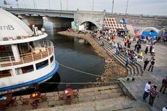 Festival de culture de rue sur les banques de la rivière Photographie stock libre de droits