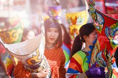 Festival 2018 de défilé de Phi Ta Khon Photo stock