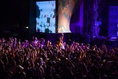 Festival de danse de mer - foule sur la scène principale Image libre de droits