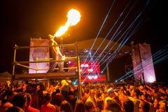 Festival de danse de mer - serrez-vous sur l'étape de Paradiso de danse Photos libres de droits