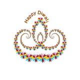 Festival de Diya Diwali Shubh Dipawali illustration stock