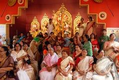 Festival de Durga de ménage de Kolkata Photographie stock libre de droits
