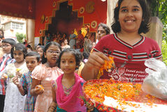 Festival de Durga del hogar de Kolkata Imagenes de archivo
