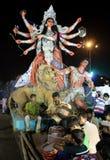 Festival de Durga Puja en Kolkata, la India Fotografía de archivo libre de regalías
