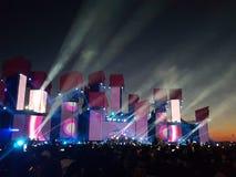Festival de EDM imagem de stock