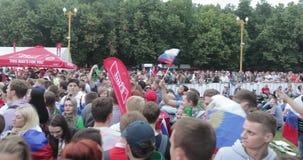 Festival de fans de la FIFA en las colinas del gorrión almacen de video