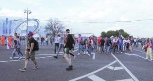 Festival de fans de la FIFA en las colinas del gorrión almacen de metraje de vídeo