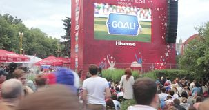 Festival de fans de la FIFA en las colinas del gorri?n almacen de video