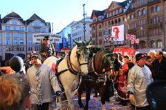 2015 festival de Fasnacht, Bâle Image stock