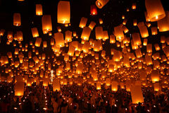 Festival de feu d'artifice en Thaïlande Image stock