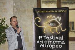 Festival de film européen de Monica de La d'albero de directeur Images libres de droits