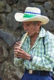 Festival de fleur et de paume dans Panchimalco, Salvador Photos libres de droits