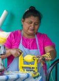 Festival de fleur et de paume dans Panchimalco, Salvador Photo libre de droits