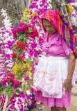 Festival de fleur et de paume dans Panchimalco, Salvador Photographie stock