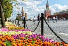 Festival de fleur sur la place rouge à Moscou Images libres de droits