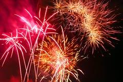 Festival de fuegos artificiales Fotografía de archivo libre de regalías
