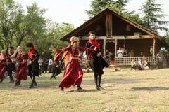 Festival de gène d'art folklorique en Géorgie Images stock
