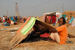 Festival de Gangasagar Imagens de Stock Royalty Free