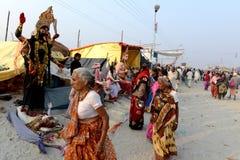 Festival de Gangasagar Imagem de Stock