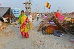 Festival de Gangasagar Fotos de Stock Royalty Free