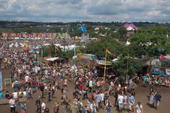 Festival de Glastonbury des arts image stock