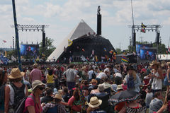 Festival de Glastonbury des arts photos stock