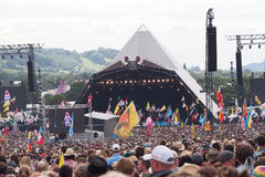 Festival de Glastonbury des arts Photos stock