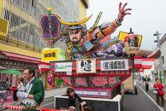 Festival de Goshogawara Tachi Neputa (flotteur debout) Images libres de droits