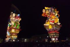 Festival de Goshogawara Tachi Neputa (flutuador estando) imagens de stock royalty free