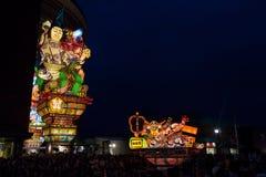 Festival de Goshogawara Tachi Neputa (flutuador estando) foto de stock
