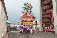 Festival de Goshogawara Tachi Neputa (flutuador estando) imagens de stock
