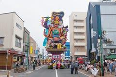 Festival de Goshogawara Tachi Neputa (flutuador estando) fotos de stock
