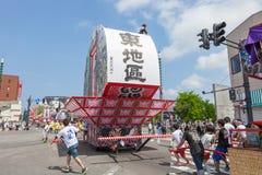 Festival de Hirosaki Neputa (flotador en abanico) en Japón imágenes de archivo libres de regalías