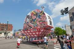 Festival de Hirosaki Neputa (flutuador em forma de leque) em Japão imagens de stock