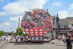 Festival de Hirosaki Neputa (flutuador em forma de leque) em Japão fotos de stock royalty free