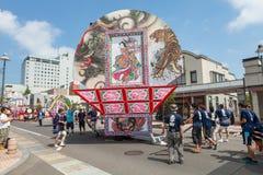 Festival de Hirosaki Neputa (flutuador em forma de leque) em Japão imagens de stock royalty free